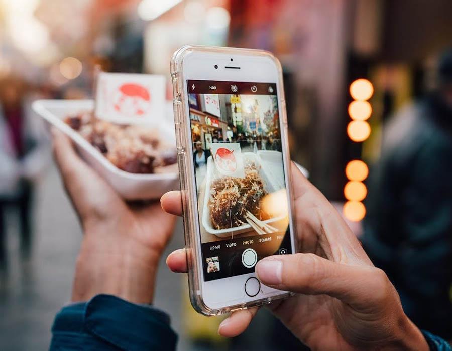 fotografando com celular