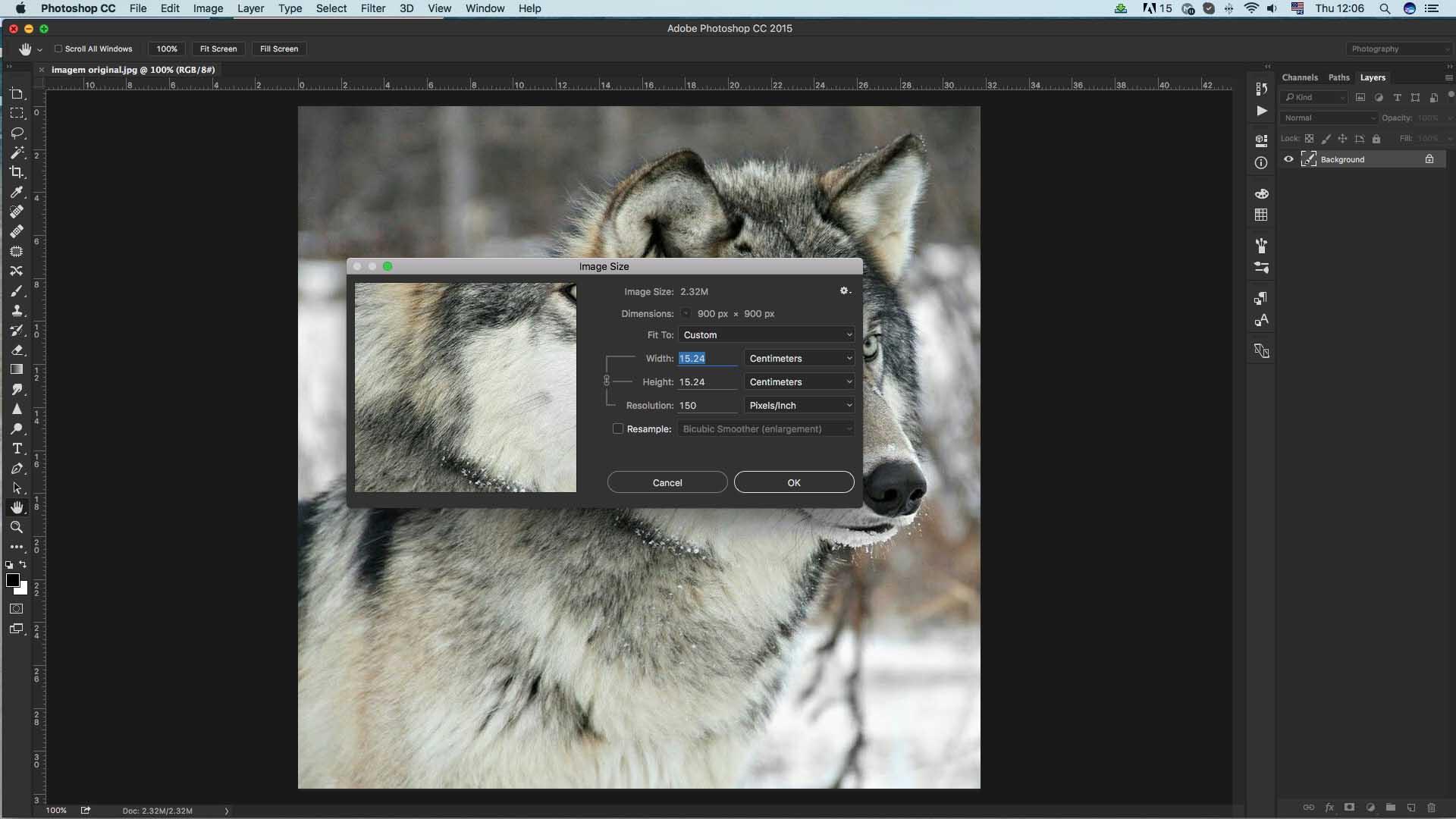 Photoshop; 150 DPI; como ampliar imagem sem perder qualidade