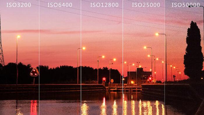 Variação de ISO