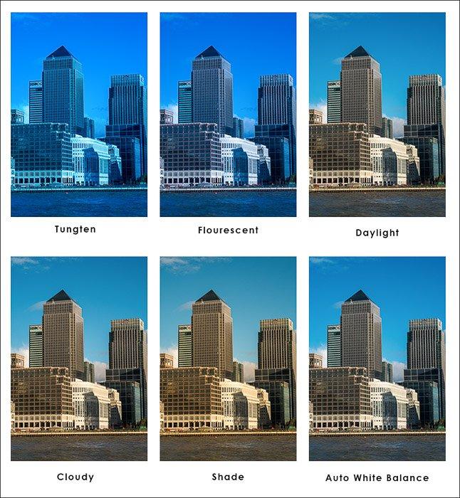 Mesma imagem com diferentes filtros de luz